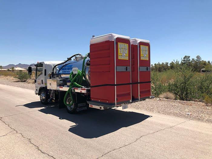 porta potty truck